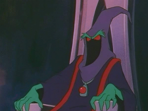 Yes he's a villain in a non-violent story. Still, No Heart's eons more intimidating than Skeletor.